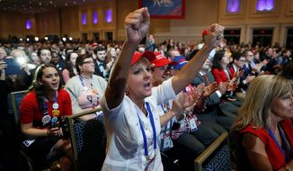Supporters cheered President Donald Trump at the Conservative Political Action Conference a year after placing him fourth in a straw poll. (Associated Press)