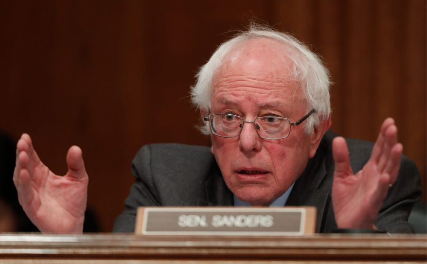 """Sen. Bernard Sanders """"has not closed the door"""" on a third-party run as supporters rally for a Draft Bernie for a People's Party. (Associated Press)"""