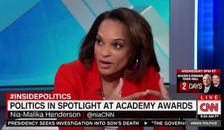 "CNN senior political reporter Nia-Malika Henderson didn't hold back criticism of Sunday's Oscars awards ceremony, saying it's ""laughable"" for ""racist, ageist, sexist"" Hollywood liberals to lecture the American people about diversity. (CNN)"