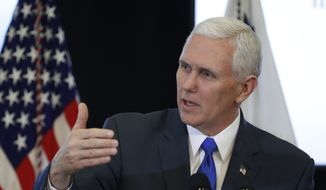 Vice President Mike Pence participates in a listening session with the historically black colleges and universities at the Eisenhower Executive Office Building on the White House complex in Washington, Monday, Feb. 27, 2017. (AP Photo/Manuel Balce Ceneta)