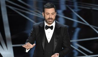 Host Jimmy Kimmel speaks at the Oscars on Sunday, Feb. 26, 2017, at the Dolby Theatre in Los Angeles. (Photo by Chris Pizzello/Invision/AP)