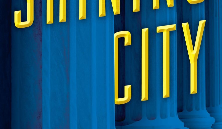 "This cover image released by Ecco shows ""Shining City,"" a novel by Tom Rosenstiel. (Ecco via AP)"