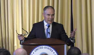 Environmental Protection Agency (EPA) Administrator Scott Pruitt speaks in Washington, in this Feb. 21, 2017, file photo. (AP Photo/Susan Walsh, File)