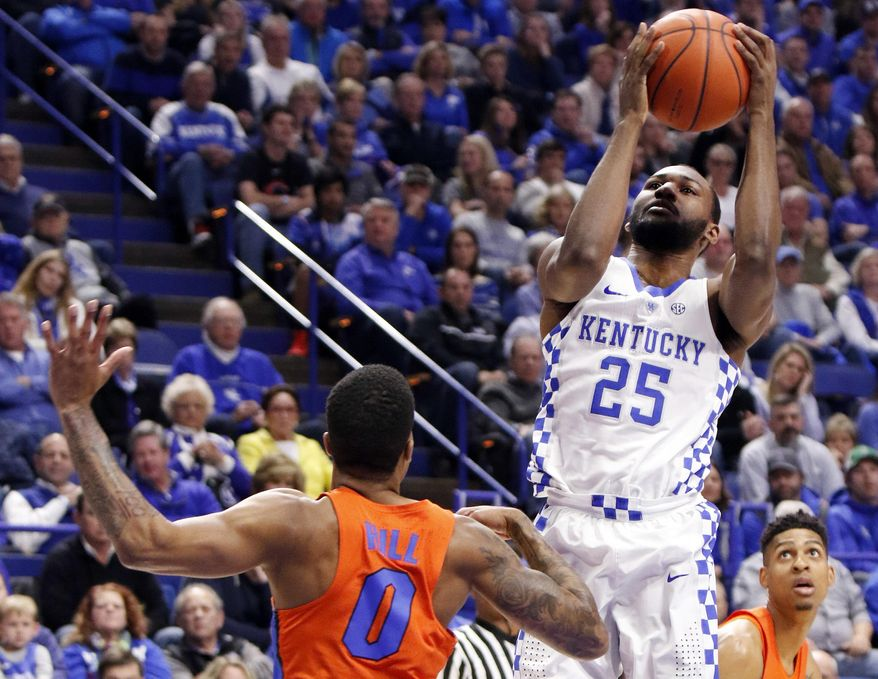 Uk Basketball: Kentucky's Dominique Hawkins (25) Shoots While Defended By
