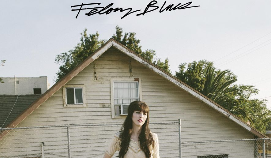 """This cover image released by Forty Below Records shows """"Felony Blues,"""" the latest release by Jaime Wyatt. (Forty Below Records via AP)"""