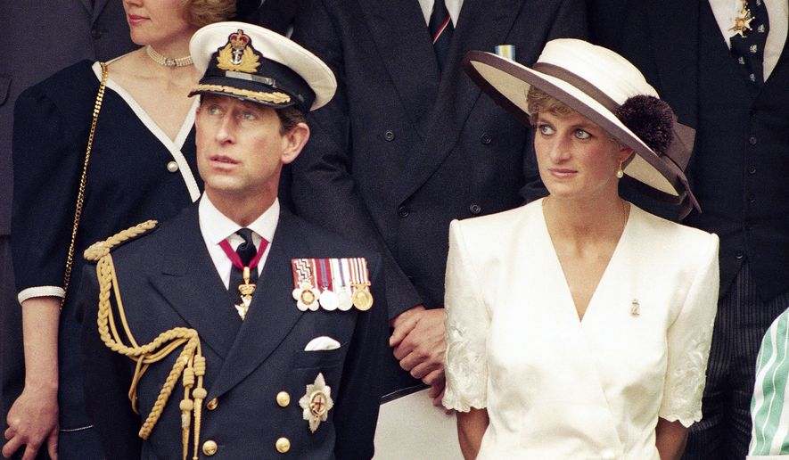 FILE - This 1991 file photo shows Prince Charles with his wife Princess Diana. FX has announced a 10-episode series that will spotlight the doomed royal couple Charles and Diana. It is scheduled to air in 2018. No cast members were disclosed by the network. (AP Photo, File)