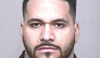 This undated photo provided by the Scottsdale Police Department shows Indianapolis Colts defensive lineman David Parry, who arrested Saturday, Feb. 25, 2017, in Scottsdale, Ariz., on suspicion of assaulting the driver of a motorized cart and then stealing and crashing the vehicle. (Scottsdale Police Department via AP)