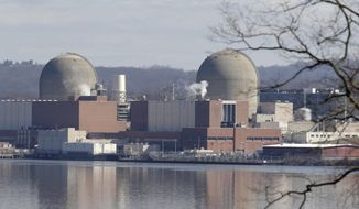 Indian Point Energy Center is seen in Buchanan, N.Y., Tuesday, Feb. 28, 2017. Some New York lawmakers are demanding more information about plans to close Indian Point nuclear plant in suburban New York City by 2021. (AP Photo/Seth Wenig)
