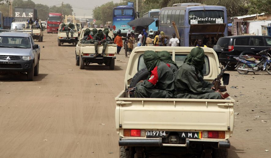 Hardened mercenaries from the Tuareg tribe have supercharged the Islamist terrorist groups and secessionist movements in northern Mali. (Associated Press/File)
