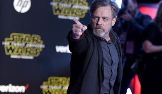 """FILE - In this Dec. 14, 2015, file photo, Mark Hamill arrives at the world premiere of """"Star Wars: The Force Awakens"""" at the TCL Chinese Theatre in Los Angeles. """"Force Awakens"""" director J.J. Abrams told the New York Daily News on Feb. 25, 2017, that """"we are all going to be very upset"""" if Hamill doesn't win an Oscar for his role as Luke Skywalker in the upcoming """"The Last Jedi."""" (Photo by Jordan Strauss/Invision/AP, File)"""