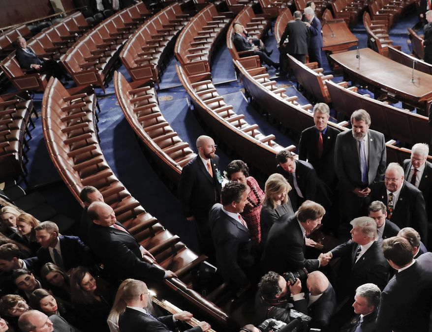 Democrats appear to be missing in action as President Trump and congressional Republicans forge ahead on a health care fix. (Associated Press/File)