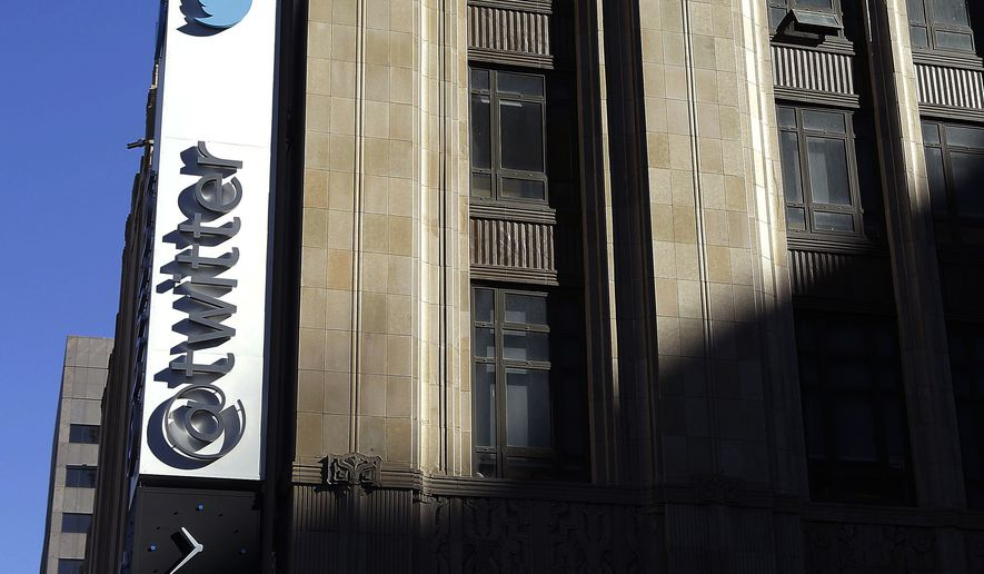 This Nov. 4, 2013, file photo shows the sign outside of Twitter headquarters in San Francisco. Twitter announced Wednesday, March 1, 2017, it is adding more new tools to curb abuse, part of an ongoing effort to protect its users from hate and harassment. It the second time in three weeks the company has released new features aimed at rooting out abusive content, signaling that its getting more serious about the issue after being criticized for not doing enough in the decade since its founding. (AP Photo/Jeff Chiu, File) **FILE**