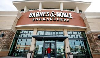 A customer enters a Barnes & Noble bookstore in Bethel Park, Pa., on June 8, 2010. (Associated Press) **FILE**