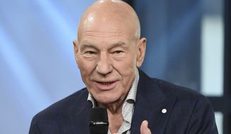 "Actor Patrick Stewart participates in the BUILD Speaker Series to discuss the film ""Logan"" at AOL Studios on Thursday, March 2, 2017, in New York. (Photo by Evan Agostini/Invision/AP)"