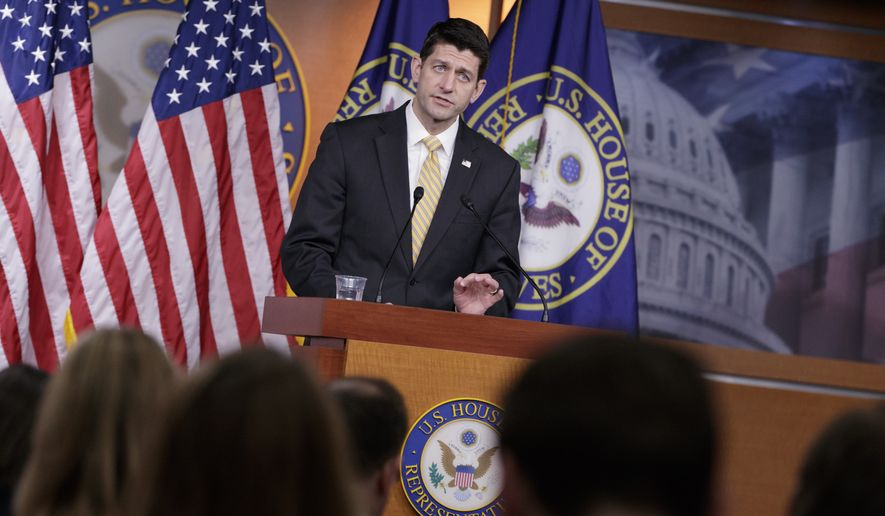 House Speaker Paul D. Ryan, however, said lawmakers were fulfilling a pledge to save American from a collapsing law that President Obama and Democratic majorities muscled to passage in 2010 without any Republican support.(AP Photo/J. Scott Applewhite)