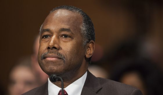 In this Jan. 12, 2017, file photo, Housing and Urban Development Secretary-designate Ben Carson testifies on Capitol Hill in Washington. (AP Photo/Zach Gibson, File)