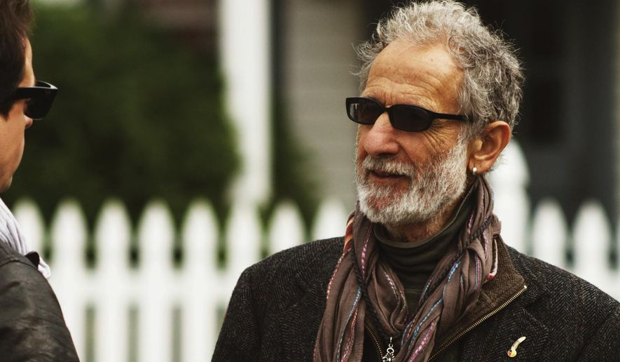 """This image released by the Tribeca Film Festival shows filmmaker Antonino D'Ambrosio with retired New York City Police detective Frank Serpico, who is the subject of a documentary, """"Frank Serpico,"""" which will premiere at the Tribeca Film Festival. (Trevor Tweeten/Tribeca Film Festival via AP)"""