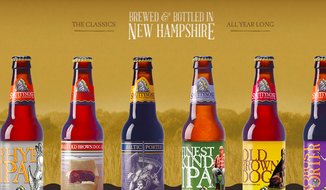 Screen capture from the website for Smuttynose Brewing Company, which is honoring the University of New Hampshire's 150th anniversary this March with a session ale. (Smuttynose.com).