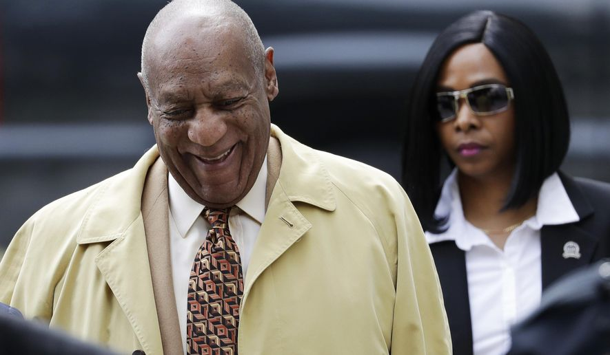 FILE - In this Monday, Feb. 27, 2017 file photo, Bill Cosby arrives for a pretrial hearing in his sexual assault case at the Montgomery County Courthouse in Norristown, Pa. Three women who had accused Bill Cosby of the intentional infliction of emotional distress in a Massachusetts case have had those claims dismissed, Friday, March 3, 2017. (AP Photo/Matt Slocum, File)