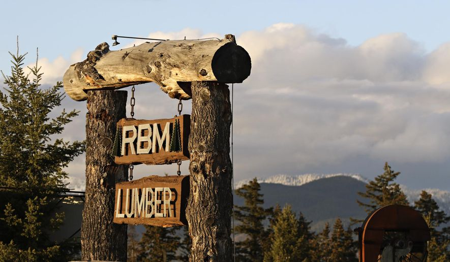 This Nov. 22, 2016 photo shows RBM Lumber in Columbia Falls, Mont.  (Greg Lindstrom /Flathead Beacon via AP)