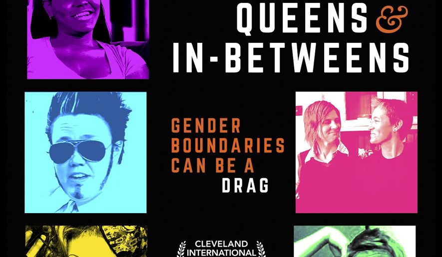"""This undated photo provided by Five Sisters Productions shows a poster for the film """"Kings, Queens & In-Betweens,"""" by filmmaker Gabrielle Burton. The documentary profiles the drag queen scene in Ohio's capital city of Columbus. (Five Sisters Productions via AP)"""
