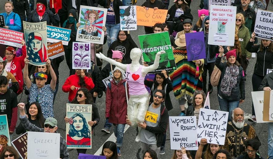 "Wednesday's ""A Day Without a Woman"" is drawing fire as the mass walkout from jobs may harm low-income women. (Associated Press)"