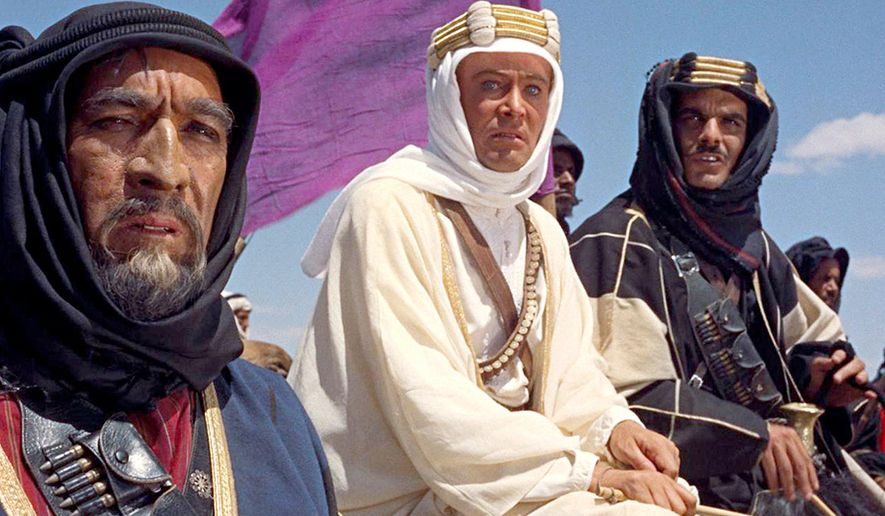 """Lawrence of Arabia is a 1962 British-American epic historical drama film based on the life of T. E. Lawrence. The film stars Peter O'Toole in the title role. It is widely considered one of the greatest and most influential films in the history of cinema. The film was nominated for ten Oscars at the 35th Academy Awards in 1963; it won seven in total: Best Picture, Best Director, Best Original Score, Best Cinematography (Color), Best Art Direction (Color), Best Film Editing and Best Sound Mixing. It also won the Golden Globe Award for Best Motion Picture - Drama and the BAFTA Awards for Best Film and Outstanding British Film. The film depicts Lawrence's experiences in the Arabian Peninsula during World War I, in particular his attacks on Aqaba and Damascus and his involvement in the Arab National Council. Its themes include Lawrence's emotional struggles with the personal violence inherent in war, his own identity, and his divided allegiance between his native Britain and its army and his new-found comrades within the Arabian desert tribes. As well as O'Toole, the film stars Alec Guinness, Jack Hawkins, Anthony Quinn, Omar Sharif, Anthony Quayle, Claude Rains and Arthur Kennedy. In 1991, Lawrence of Arabia was deemed """"culturally, historically, or aesthetically significant"""" and selected for preservation in the United States Library of Congress National Film Registry."""