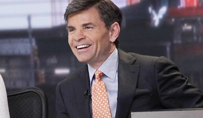 "This 2014 image released by ABC shows George Stephanopoulos anchor ""Good Morning America,"" in New York. Stephanopoulos' ""Good Morning America"" exchange with White House spokeswoman Sarah Huckabee Sanders on Monday, March 6, 2017, is the second time in a month that the ABC anchor had a notably sharp interview with a Trump administration official. (Lou Rocco/ABC via AP)"
