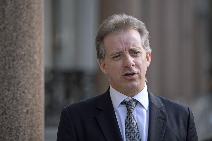 Former British intelligence agent Christopher Steele and his Orbis Business Intelligence firm were not part of Hillary Clinton's campaign or the Democratic National Committee. The money trail to Mr. Steele went through a lawyer who represents the DNC and the Clinton campaign and is steeped in U.S. election law. (Associated Press/File)