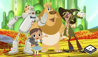 "This image provided by Warner Bros. Entertainment Inc. shows a still from video subscription service Boomerang's Dorothy and the Wizard of Oz. The new streaming service aimed at kids coming in the spring of 2017 will have episodes of classic cartoons like Scooby Doo, The Flintstones and The Jetsons as well as original series, including Warner Bros. Animations ""Dorothy and the Wizard of Oz."" The Boomerang service, from Time Warner, joins a crowded market of kid-aimed online subscription video. (Warner Bros. Entertainment Inc. via AP)"