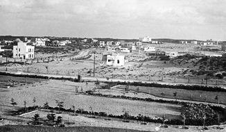 Netanya, early 1930s landscape in Israel. Photo by Public Domain