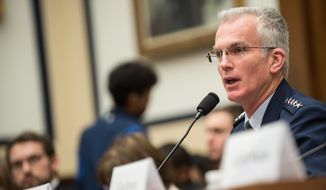 U.S. Air Force Gen. Paul J. Selva, vice chairman of the Joint Chiefs of Staff, testifies during a House Armed Services Committee hearing on Capitol Hill, March 7, 2017. (DoD Photo by U.S. Army Sgt. James K. McCann) ** FILE **
