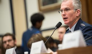 U.S. Air Force Gen. Paul J. Selva, Vice Chairman of the Joint Chiefs of Staff, testifies during a House Armed Services Committee hearing on Capitol Hill, March 7, 2017. Gen. Selva testified alongside U.S. Air Force Gen. John E. Hyten, commander of U.S. Strategic Command; U.S. Navy Adm. Bill Moran, Vice Chief of Naval Operations; and U.S. Air Force Vice Chief of Staff Gen. Stephen Wilson. Gen. Selva spoke about the continuing relevance of U.S. nuclear forces for our national security and the steps the Joint Force is taking to modernize and replace them. He also stated that U.S. weapons, delivery systems, the infrastructure that supports them, and the personnel who operate, monitor, and maintain them are prepared today to respond to any contingency. (DoD Photo by U.S. Army Sgt. James K. McCann)