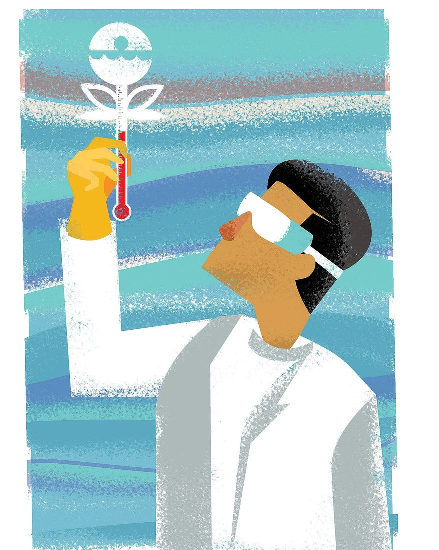 Illustration on how the EPA needs to release its scientific findings by Linas Garsys/The Washington Times