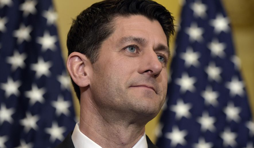 House Speaker Paul Ryan of Wis., speaks during a news conference on the American Health Care Act on Capitol Hill in Washington, Tuesday, March 7, 2017. (AP Photo/Susan Walsh) ** FILE **