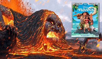"""The lava demon attacks in Disney's """"Moana,"""" available on Blu-ray from Walt Disney Studios Home Entertainment."""