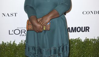 FILE - In this Nov. 14, 2016 file photo, Gabourey Sidibe arrives at the Glamour Women of the Year Awards in Los Angeles. Sidibe says she had weight-loss surgery last year after being diagnosed with diabetes. In an excerpt from her forthcoming memoir published Wednesday by People magazine, the Oscar-nominated actress says she underwent the procedure in May 2016. (Photo by Jordan Strauss/Invision/AP, File)