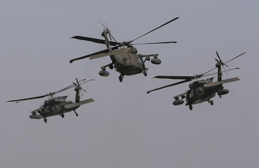 U.S. Black Hawk helicopters were deployed to reassure NATO's European allies after Russia's invasion in Ukraine. (Associated Press/File)