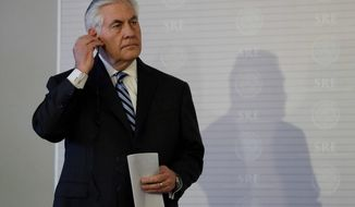 U.S. Secretary of State Rex W. Tillerson will host representatives of the 68 nations in the anti-Islamic State coalition in the Trump administration's first try at multinational diplomacy. The effort may be complicated due to the absence of Russia and Iran from the effort. (Associated Press)