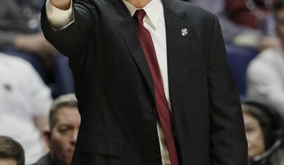 Mississippi State head coach Ben Howland yells to his players during the first half of an NCAA college basketball game against Alabama at the Southeastern Conference tournament Thursday, March 9, 2017, in Nashville, Tenn. (AP Photo/Wade Payne)