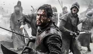 "In this image released by HBO, Kit Harington appears in a scene from ""Game of Thrones."" HBO said Thursday that the series will return for its seventh season on Sunday, July 16. (Helen Sloan/HBO via AP)"