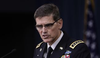 U.S. Army Gen. Joseph Votel has accused Russia of providing weapons and material support to the Taliban in an effort to expand Moscow's influence in the war-torn country. (AP Photo/Manuel Balce Ceneta, File)