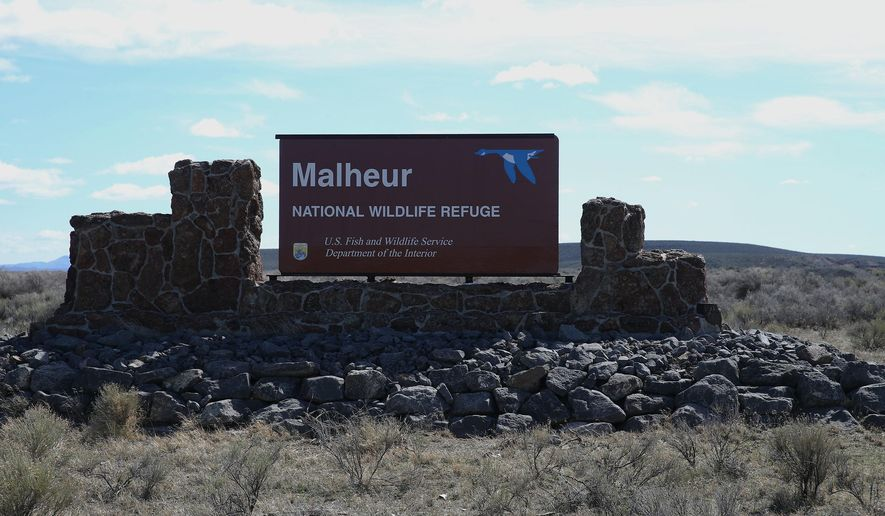 This March 23, 2016, file photo shows part of the Malheur National Wildlife Refuge near Burns, Ore. A jury has convicted two men of conspiracy to impede federal officers during an armed occupation of the wildlife refuge in Oregon. The verdict Friday, March 10, 2017, handed prosecutors a measure of redemption after they failed to convict Ammon and Ryan Bundy along with five other occupiers in a high-profile trial last fall involving the takeover of Malheur National Wildlife Refuge, a remote bird sanctuary southeast of Portland. (Dave Killen/The Oregonian via AP, File)