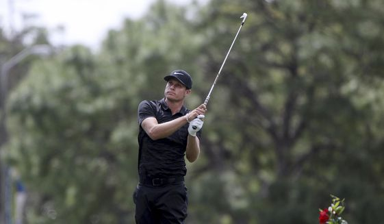 Nick Watney plays a tee shot at hole 17 in the second round of the Valspar Golf Championship, Friday, March 10, 2017 in Palm Harbor, Fla. (Douglas R. Clifford/Tampa Bay Times via AP)  **FILE**