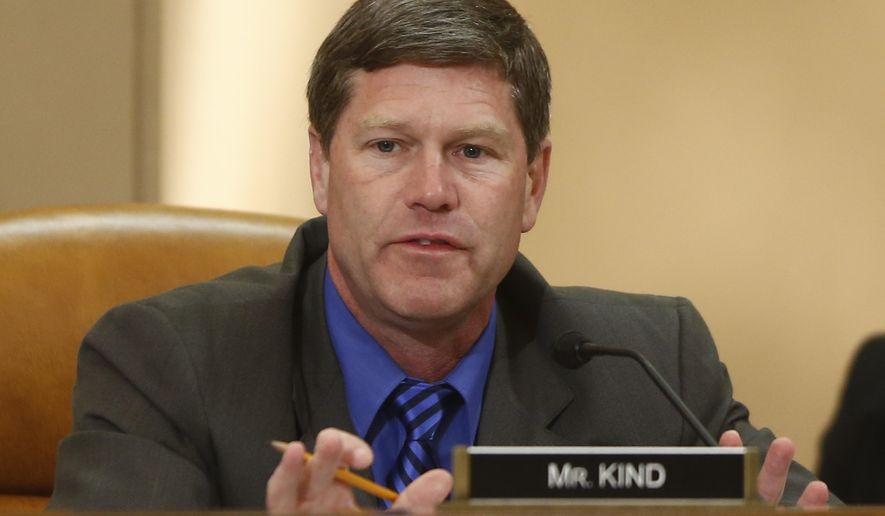 FILE - In this June 4, 2013 file photo, Rep. Ron Kind, D-Wisc., appears at a hearing on Capitol Hill in Washington. Rep. Kind told The Associated Press Friday, March 10, 2017 that he will not run for Wisconsin governor against Republican Gov. Scott Walker in 2018. Kind's decision ends months of speculation about what the western Wisconsin congressman from La Crosse would do next year. (AP Photo/Charles Dharapak, File)