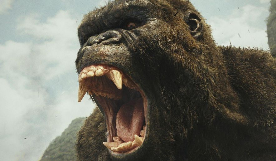 """This image released by Warner Bros. Pictures shows a scene from, """"Kong: Skull Island."""" (Warner Bros. Pictures via AP)"""
