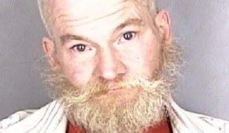 This photo taken Tuesday, March 7, 2017, in Salem, Ore., and provided by the Marion County Sheriff's office shows Jason Kendall. Police arrested Kendall, who is accused of attacking a restaurant employee with a pipe while calling the worker a terrorist and telling him to go back to his country. (Marion County Sheriff via AP)