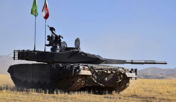 The Iran Karrar tank (Photo: Iranian Defense Ministry via AP)