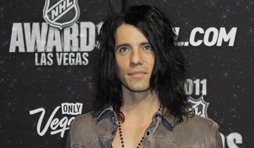 Criss Angel appears on the red carpet before the 2011 NHL Awards, in Las Vegas, in this June 22, 2011, file photo. Angel told ABC News a poor diet and lack of sleep for an on stage mishap on March 10, 2017, that sent him to a Las Vegas hospital. (AP Photo/Julie Jacobson, File)