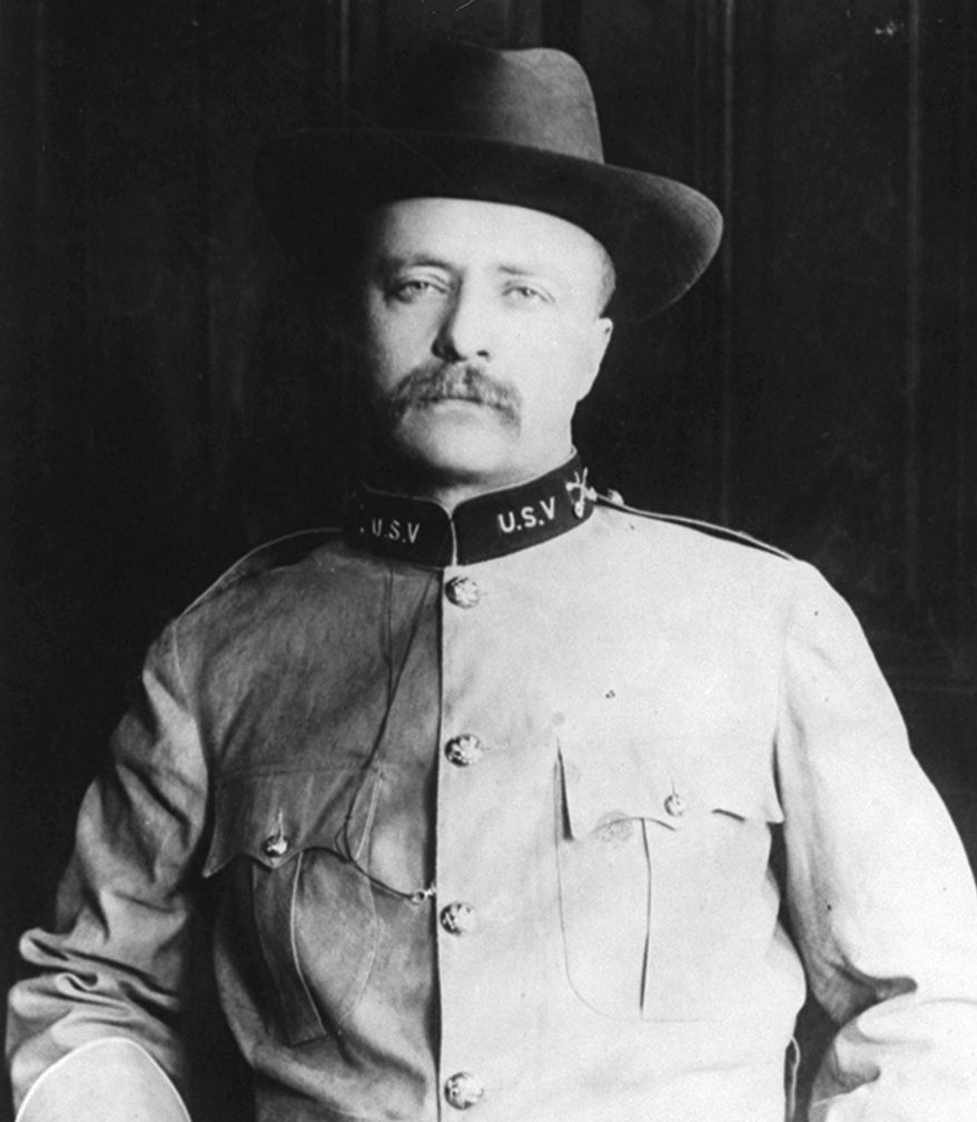 """Theodore Roosevelt (October 27, 1858  January 6, 1919) served as the 26th President of the United States from 1901 to 1909. As a leader of the Republican Party during this time, he became a driving force for the Progressive Era in the United States in the early 20th century. Prior to his service in the SpanishAmerican War, Roosevelt had already seen reserve military service from 1882 to 1886 with the New York National Guard. Commissioned on August 1, 1882 as a 2nd Lieutenant with B Company, 8th Regiment, he was promoted to Captain and company commander a year later, and he remained in command until he resigned his commission. When the United States and Spain declared war against each other in late April 1898, Roosevelt resigned from his post as Assistant Secretary of the Navy and on May 6 and formed the First US Volunteer Cavalry Regiment along with Army Colonel Leonard Wood. When the newspapers reported the formation of the new regiment, Roosevelt and Wood were flooded with applications from all over the country. Referred to by the press as the """"Rough Riders"""", the regiment was one of many temporary units active only for the duration of the war. Under his leadership, the Rough Riders became famous for the charge up Kettle Hill on July 1, 1898, while supporting the regulars. Roosevelt had the only horse, and rode back and forth between rifle pits at the forefront of the advance up Kettle Hill, an advance that he urged despite the absence of any orders from superiors. He was forced to walk up the last part of Kettle Hill, because his horse had been entangled in barbed wire. The victories came at a cost of 200 killed and 1,000 wounded.  (AP Photo)"""
